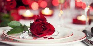 Décoration de table romantique Paris