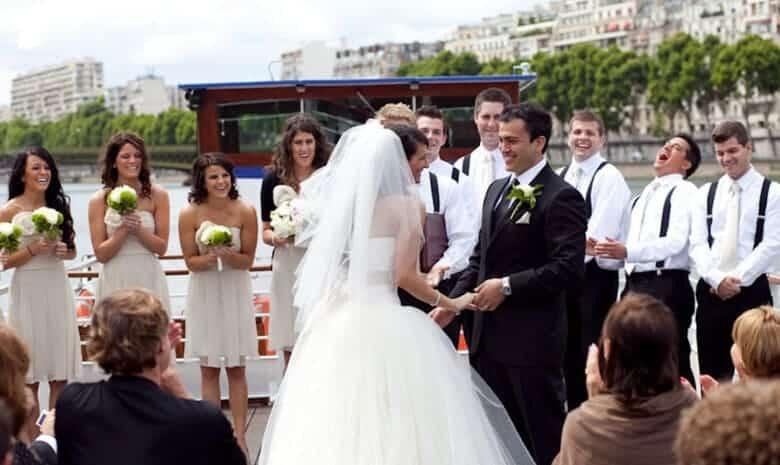 Mariage face à la Tour Eiffel